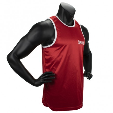 Super Pro Combat Gear Club Boxing Top Singlet red/white
