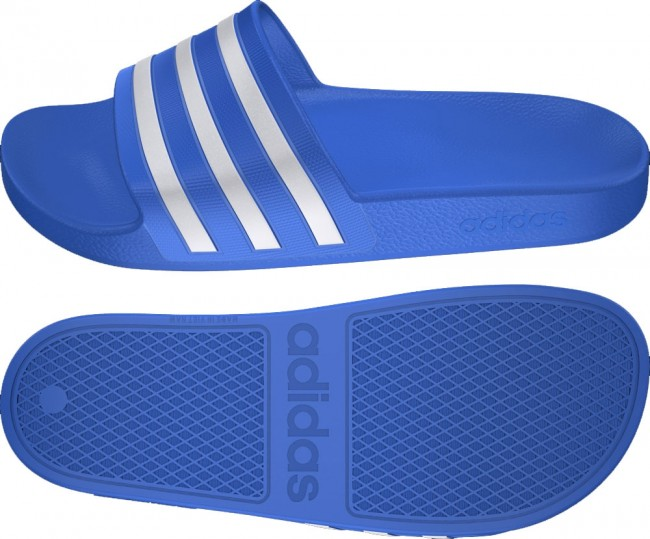 T19 ADILETTE adidas AQUA SchuheSchlappen BLUE WHITE qSUpzGMV