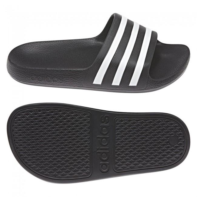 adidas T19 ADILETTE AQUA BLACK WHITE Schuhe & Schlappen