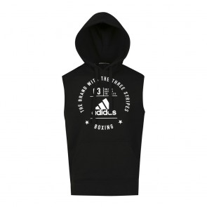 "adidas Community Sleeveless Hoody ""BOXING"" black/white"