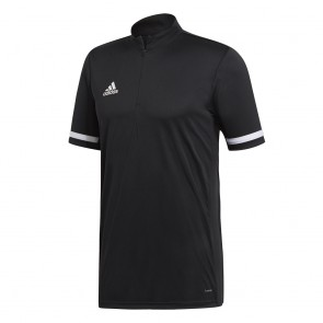 adidas T19 1/4 SS SHIRT M BLACK/WHITE