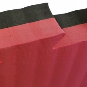 Puzzelmatte 100 x 100 x 2,5 cm Schwarz/Rot