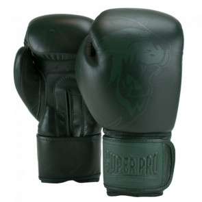 Super Pro Combat Gear Legend SE Leder Boxhandschuhe green