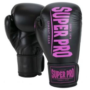 Super Pro Combat Gear Champ Boxhandschuhe black/pink