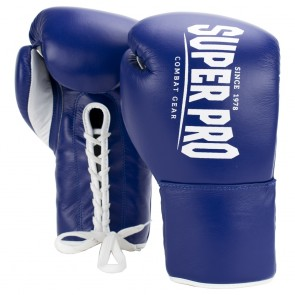 Super Pro Combat Gear Winner Wettkampfhandschuhe Schnürung blue/white 10oz