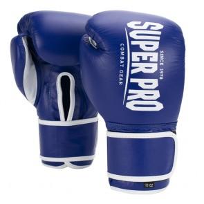Super Pro Combat Gear Winner Wettkampfhandschuhe Klettverschluss blue/white 10oz