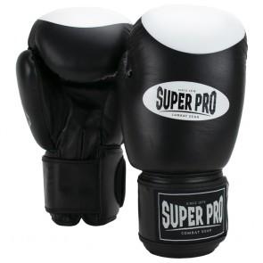 Super Pro Combat Gear Boxer Pro Boxhandschuhe Klettverschluss black/white