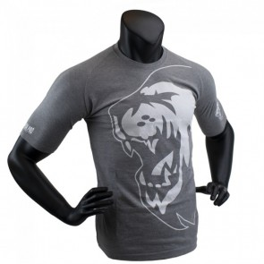 Super Pro T-Shirt Lion Logo grey/white